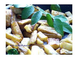 Kaya Mezhukkupuratti – Stir-Fried Raw Banana or Plantain Recipe