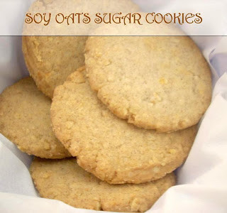 Soy-Oats Sugar Cookies Recipe-Cookies with Soy Flour