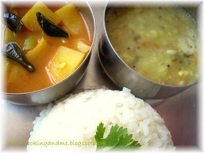Gujarati Chana Moong Dal - Khattay Aloo Recipe