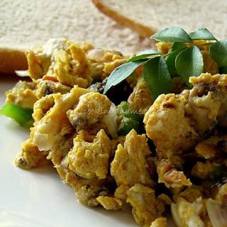 Akoori Recipe | Scrambled Eggs with Mushrooms & Masala