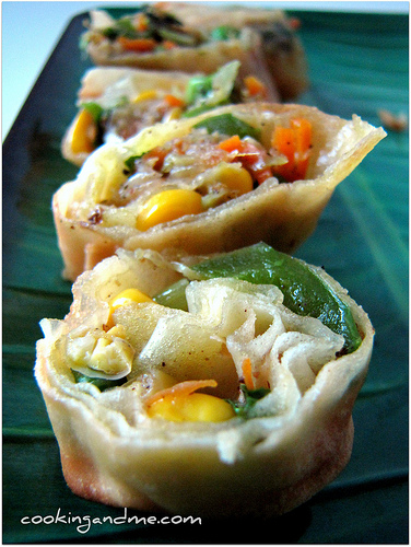 vegetable spring rolls, how to make vegetable spring rolls recipe