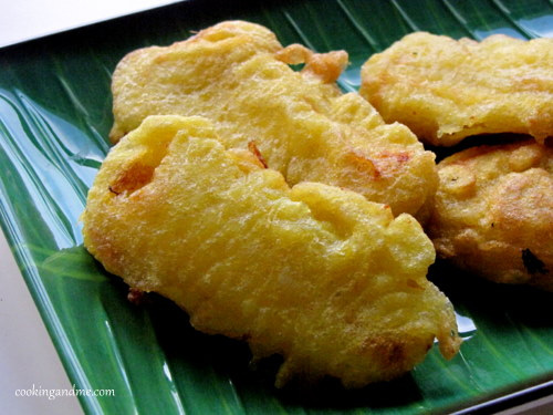 quick and easy indian snack recipes - pazham pori banana fritters