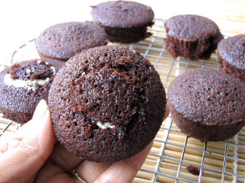 Filled Chocolate Cupcakes