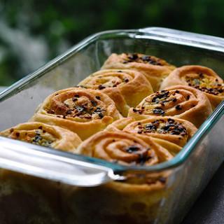 garlic pull-apart rolls recipe, eggless