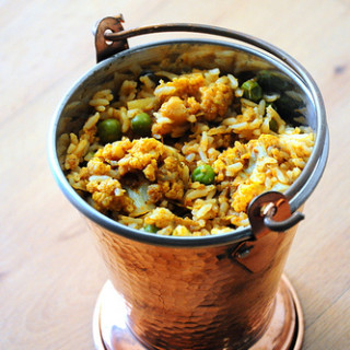 Super Quick Cauliflower / Gobi Biryani Recipe