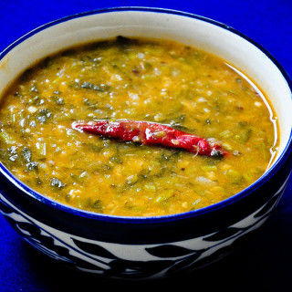 Watercress & Yellow Moong Dal Recipe