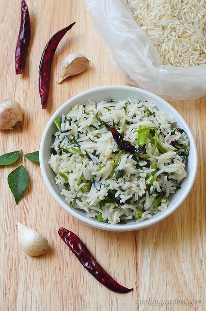 kang kong flavoured rice recipe