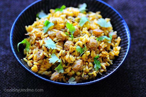 Soya Chunks Biryani   Soya Chunks (Meal Maker) Biryani Recipe