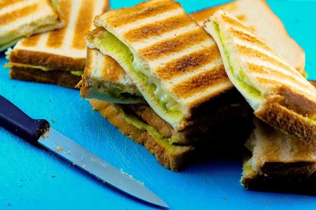 Grilled Guacamole Cheese Sandwiches Recipe - Edible Garden