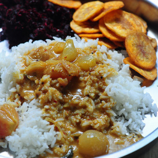 Vengaya kara kuzhambu recipe with coconut milk