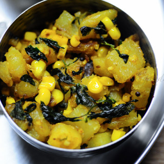 Aloo Methi – Methi Aloo Recipe (Dry)-Potatoes with Fenugreek Leaves