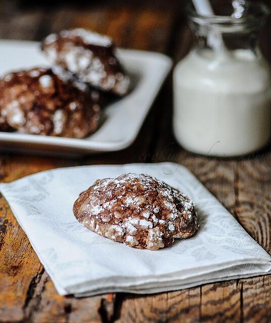 Crinkle Cookies   Crackle Cookies   Christmas Cookie Recipe
