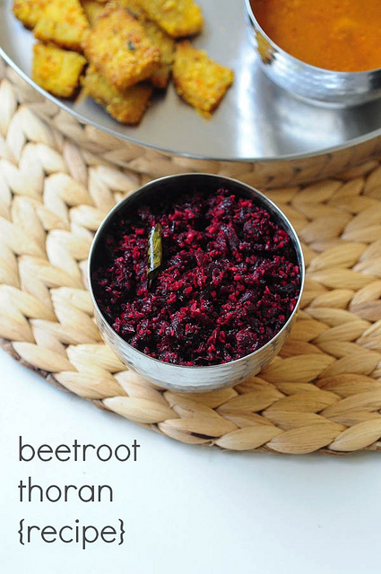 Kerala Beetroot Thoran (Beetroot Poriyal) Recipe