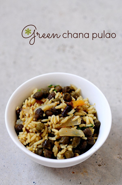 Green Chana Pulao-Chana Pulao Recipe