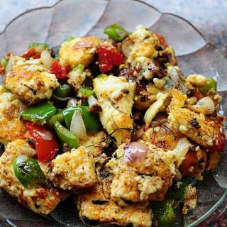 Paneer Shashlik Recipe – Stovetop Paneer Shashlik Sizzler – Step by Step