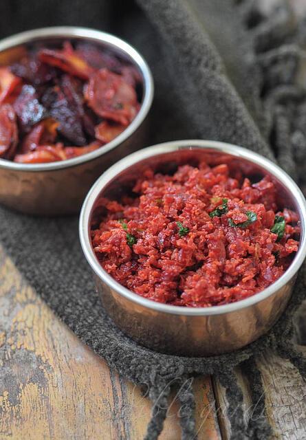 carrot beetroot thoran recipe - kerala style
