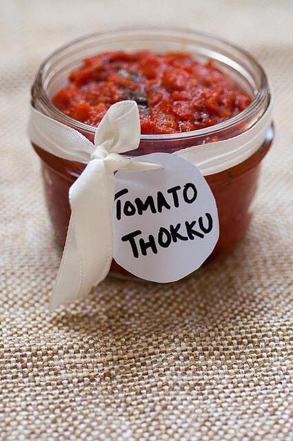 tomato thokku-thakakali thokku for dosa idli chapati