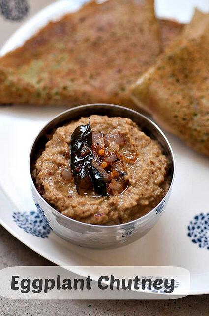 kathirikai chutney-eggplant chutney recipe