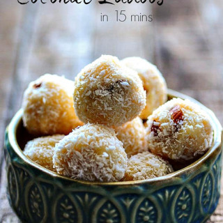 coconut ladoo recipe, easy coconut ladoo for diwali