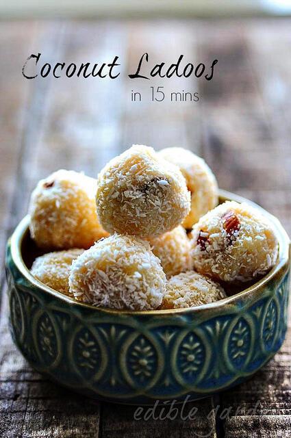 coconut ladoo-coconut laddu-easy diwali sweets