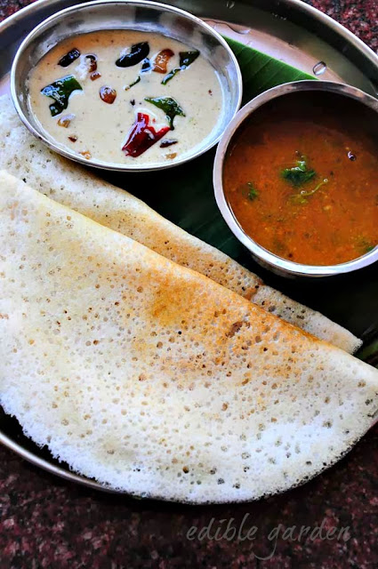 Plain Dosa Recipe - How to Make Dosa Batter at Home