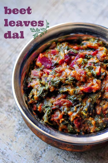 Beetroot Leaves Dal - Masoor Dal Recipe with Beet Leaves ...