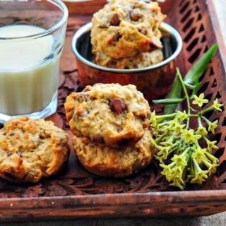 Eggless Banana Oatmeal Chocolate Chip Cookies Recipe