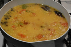 capsicum tomato dal recipe-dal with tomatoes and capsicum-3
