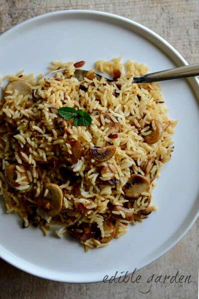 mushroom pulao-mushroom pulao recipe-2