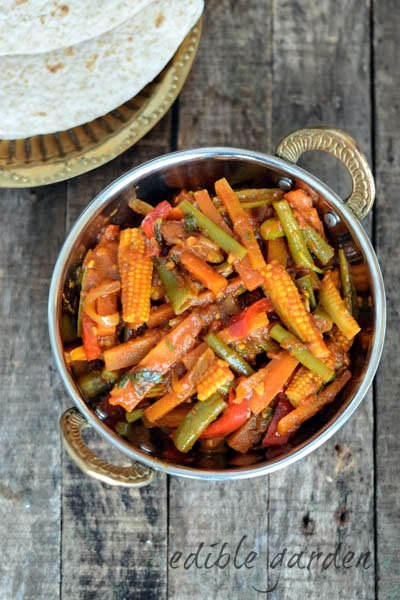 Vegetable Jalfrezi Recipe Easy Veg Jalfrezi Recipe Step By Step Edible Garden