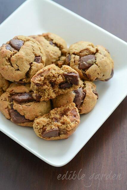 whole wheat (atta) jaggery chocolate chip cookies recipe