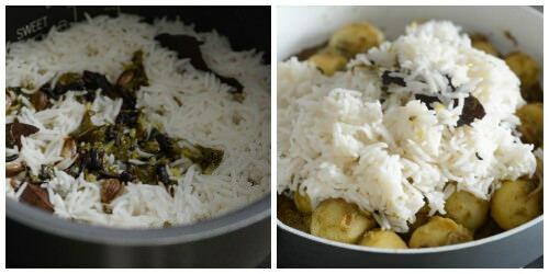 baby potato biryani recipe step by step