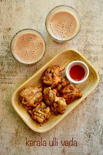 Ulli vada onion vada recipe, Kerala tea time snack