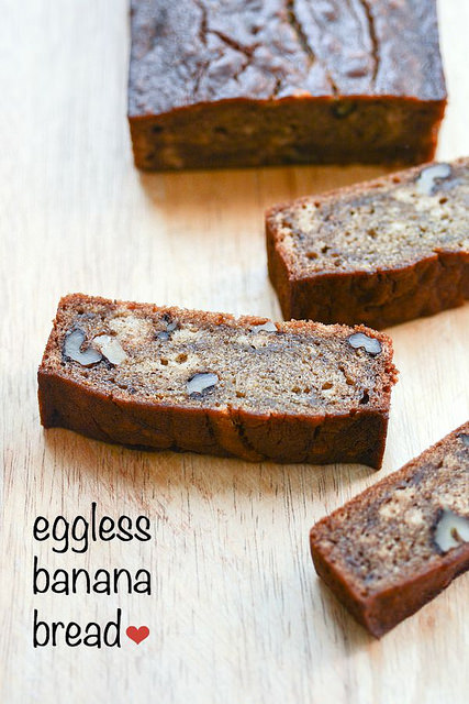 Eggless Banana Bread Recipe, Eggless Banana Bread Step by Step