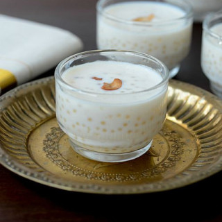 Sago payasam, sago payasam recipe for Onam