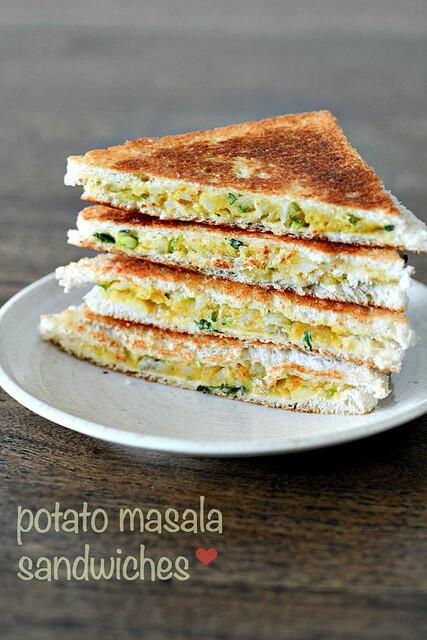 aloo masala sandwich recipe easy tea time snacks