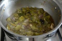 ridge gourd pachadi, beerakaya pachadi recipe-5