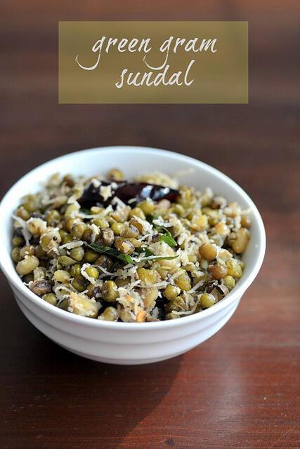 green gram sundal pachai payaru sundal recipe
