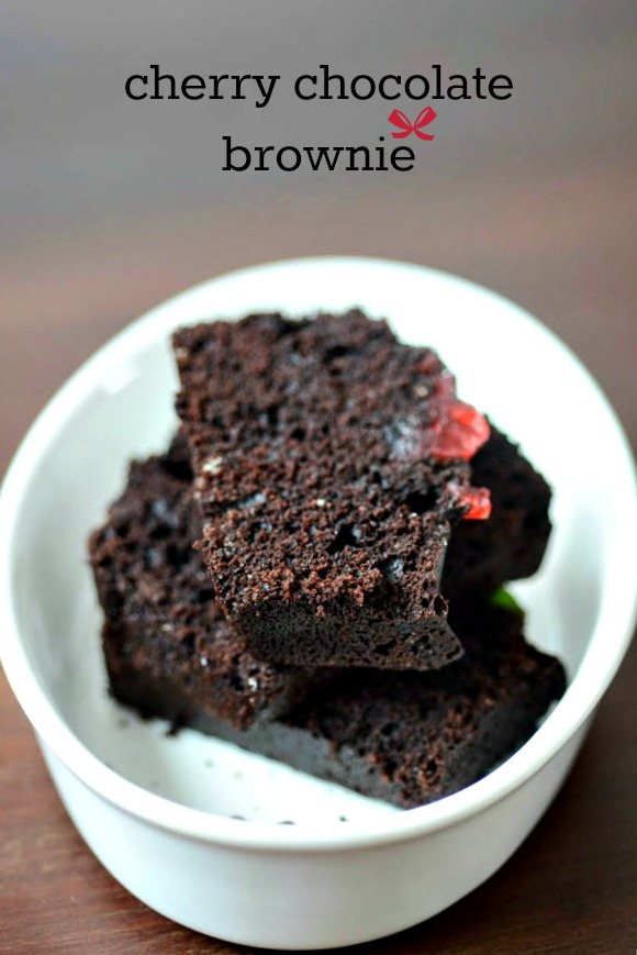 Cherry Chocolate Brownie Recipe, How to make Chocolate Brownies