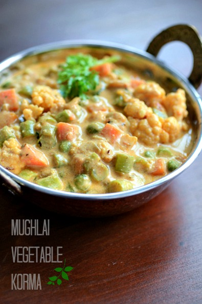 mughlai vegetable korma recipe