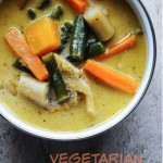 vegetarian thai green curry with vegetables recipe