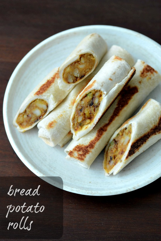 bread potato rolls recipe, bread rolls with spicy potato filling ed