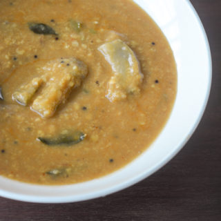 Kathirikai sambar recipe, how to make kathirikai sambar