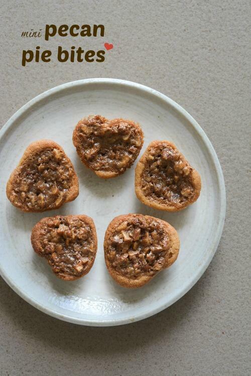 pecan pie bites, mini pecan pie recipe