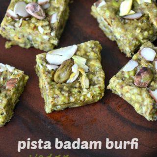 Pista badam burfi recipe, pista badam burfi step by step