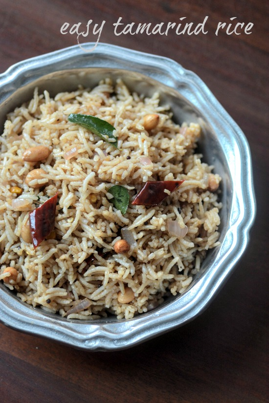 Tamarind rice recipe, how to make easy tamarind rice - Edible Garden