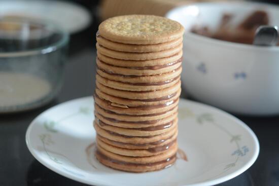 Marie Biscuit Chocolate Logs Recipe