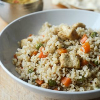 vegetable paneer biryani with brown rice recipe