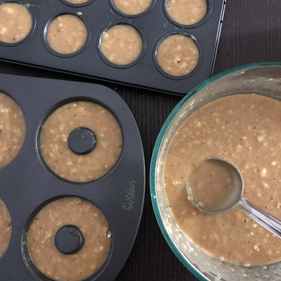 banana oats atta muffins for baby, toddlers