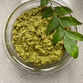 Curry leaves thogayal recipe